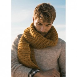 Easy men's scarf - pattern