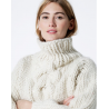 Cropped Cable -  thick wool sweater- pattern
