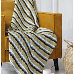 Crochet stripped blanket -...