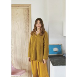 Oversized V-neck Mohair...