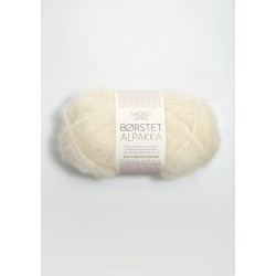 Borstet Alpakka - 96% brushed alpaca, 4% nylon